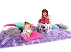 Plyšový dětský koberec FIALOVÝ