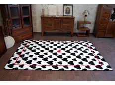 Moderní koberec černo-bílý F755
