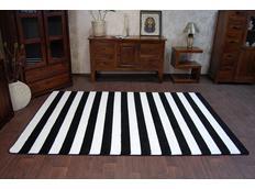 Moderní koberec černo-bílý F758