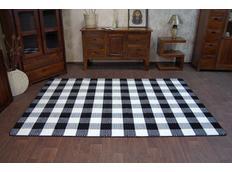 Moderní koberec černo-bílý F759
