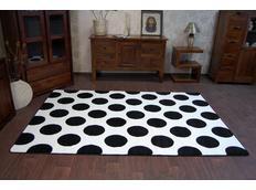 Moderní koberec černo-bílý F761