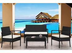 Zahradní ratanový nábytek JAMAICA set 4ks šedý