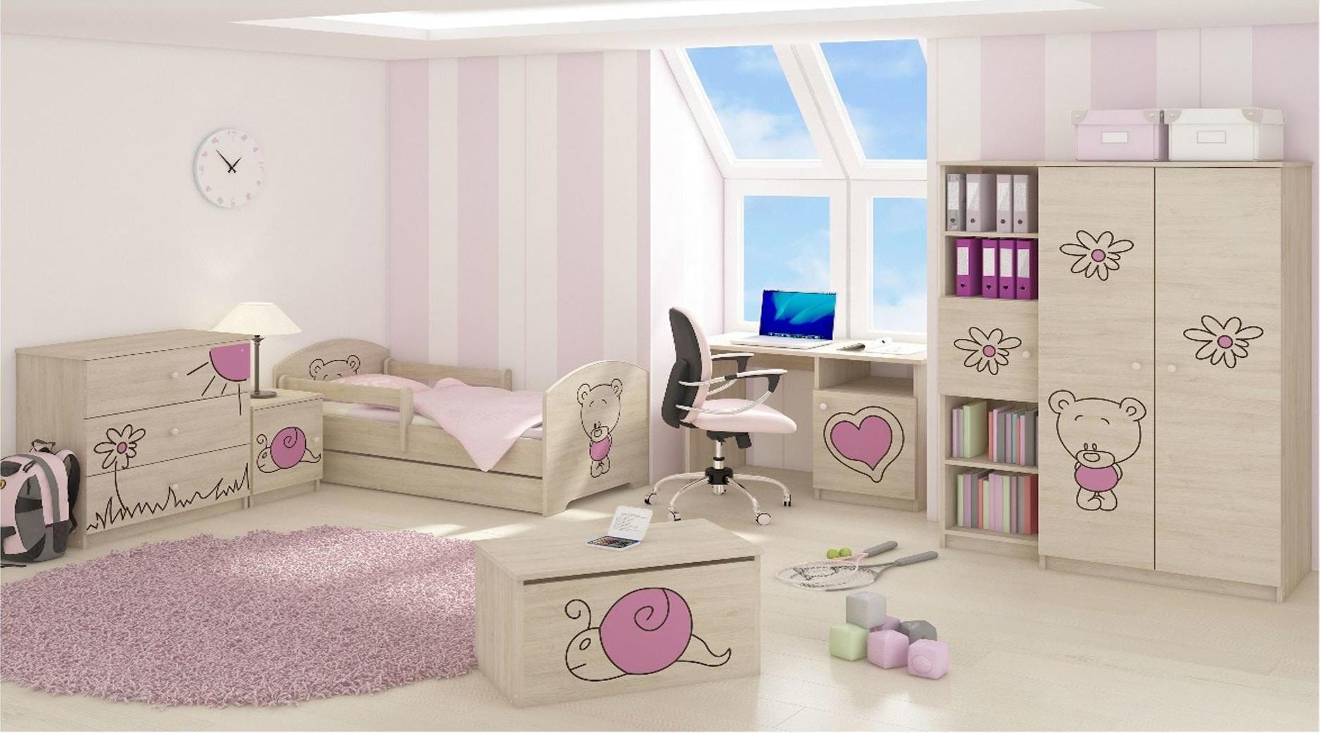 Dětský pokoj s výřezem MÉĎA - růžová
