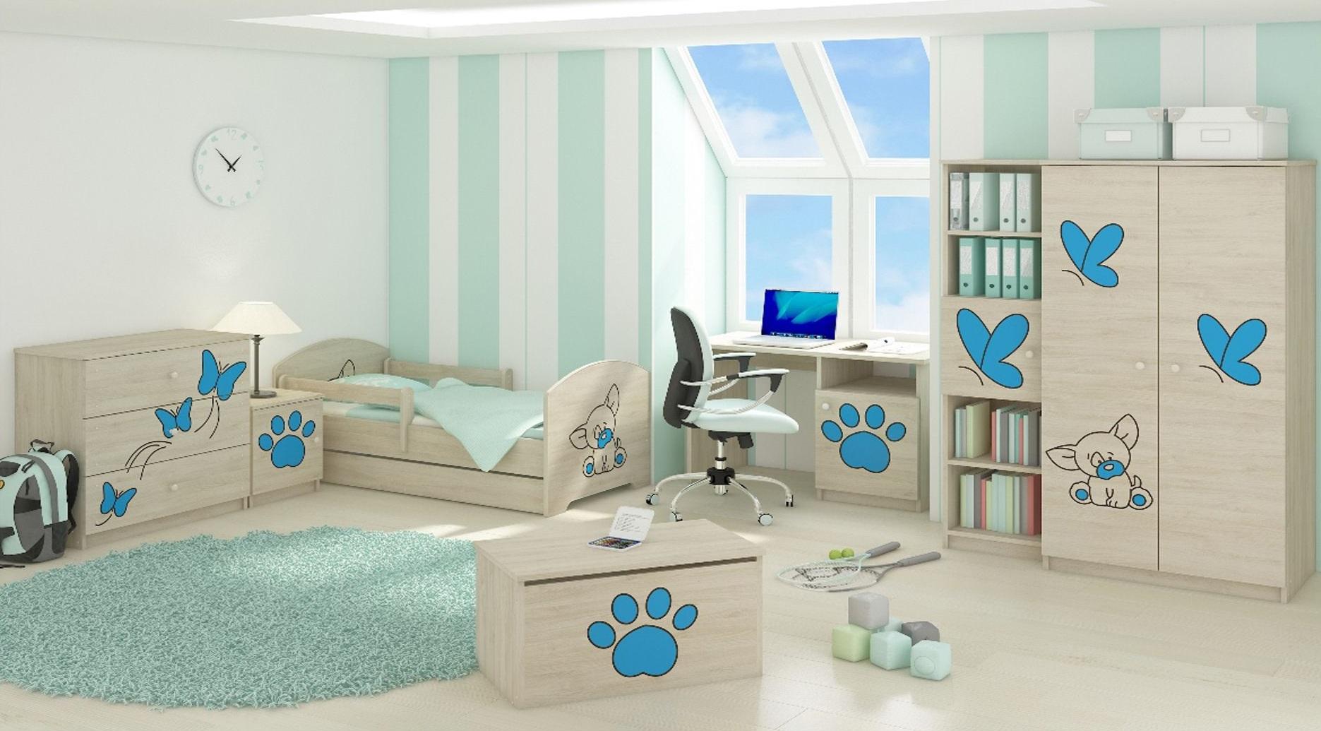 Dětská pokojová sestava s výřezem PEJSEK- modrá