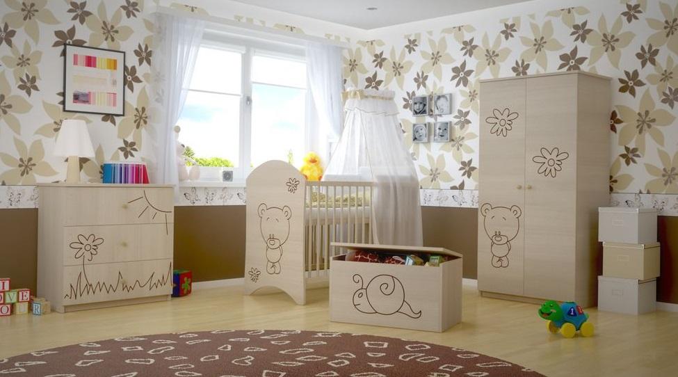 Dětský pokoj s výřezem MÉĎA - přírodní
