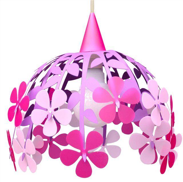 Dětská závěsná lampa KYTICE - fialová
