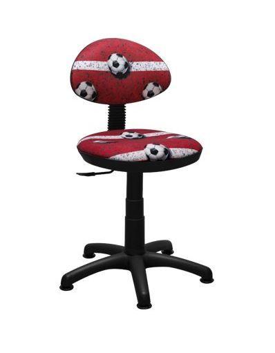 Dětská otočná židle TYP 1 - FOTBAL červená
