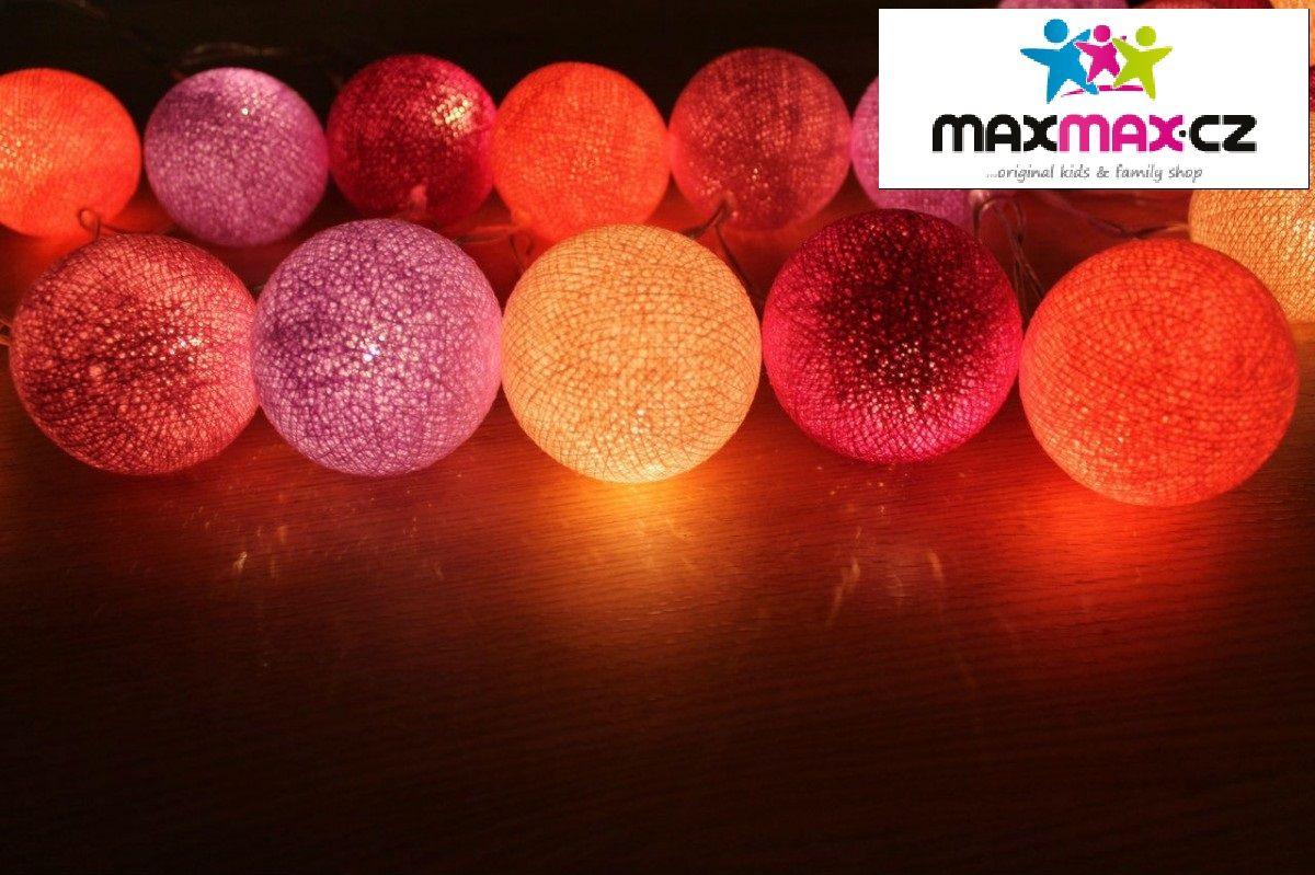 Bavlněné svítící LIGHT BERRY kuličky - 10 kuliček