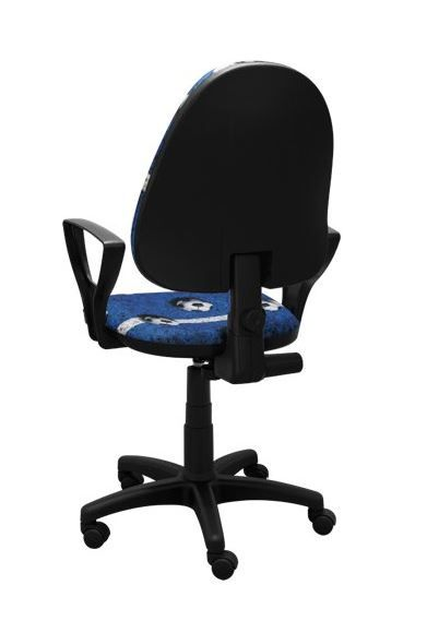 Dětská otočná židle TYP 5 - FOTBAL modrá