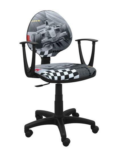 Dětská otočná židle TYP 7 - FORMULE šedá