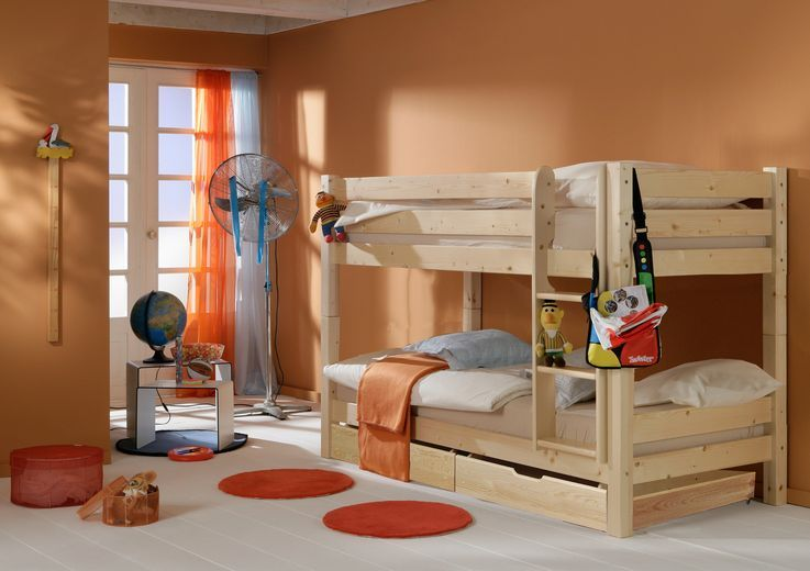 Dětská POSCHOĎOVÁ postel BARČA PLUS se šuplíky