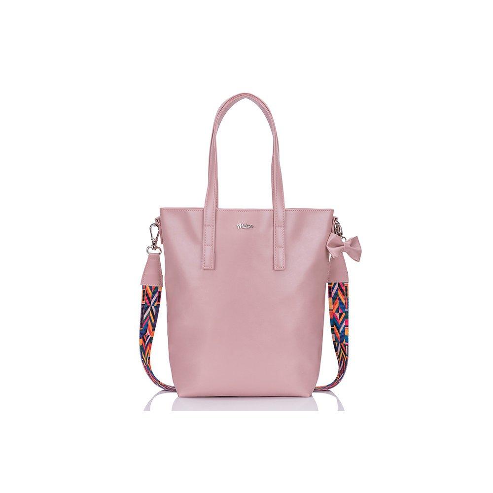 a00bd1287906 Dámská kabelka MILS 2 - tmavě růžová + AZTEC popruh ...