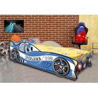 Dětská autopostel CARS POLICIE 140x70 cm s MATRACÍ ZDARMA
