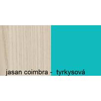 Barevné provedení - jasan coimbra - tyrkysová