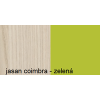 Barevné provedení - jasan coimbra - zelená