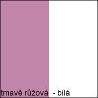 Barevné provedení - tmavě růžová / bílá