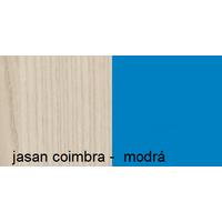 Barevné provedení - jasan coimbra / modrá