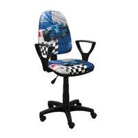 Dětská otočná židle BRANDON - FORMULE modrá