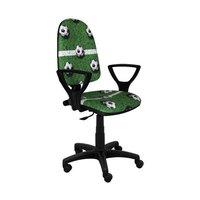 Dětská otočná židle BRANDON - FOTBAL zelená