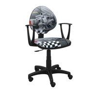 Dětská otočná židle PATRICK - FORMULE šedá