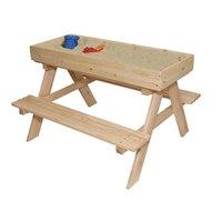 Dětský dřevěný zahradní set + pískoviště + tabule