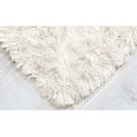 Plyšový dětský koberec MAX BÍLÝ - ECRU
