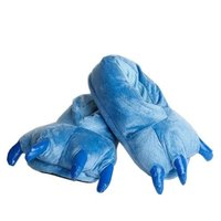 Plyšové papuče KIGU - modré tlapy