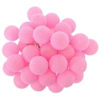 Bavlněné svítící kuličky LED 35 ks - růžové