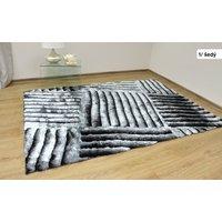 Kusový koberec Shaggy MAX lana - šedý - vzor 1