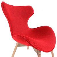 Designová retro židle Fox - červená