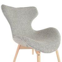 Designová retro židle Fox - šedá