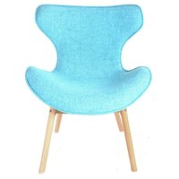 Designová retro židle Fox - tyrkysová