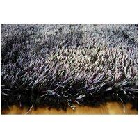 Kusový koberec SHAGGY NARIN černo-fialový