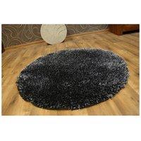 Kulatý koberec SHAGGY NARIN black melon