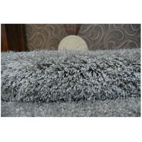 Kulatý koberec SHAGGY NARIN šedý
