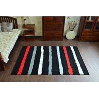 Moderní koberec Pruhy červené