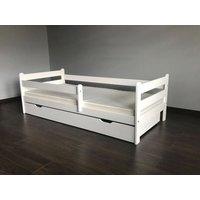 Dětská postel z MASIVU DP 025 - bílá barva
