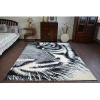 Moderní koberec FUNKY TOP PAN tygr - šedý
