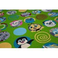 Dětský koberec FUNKY TOP SUS zvířata - zelený
