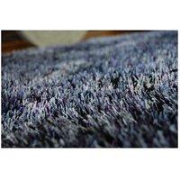 Kulatý koberec SHAGGY NARIN černo-fialový