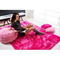 Plyšový koberec TMAVĚ-RŮŽOVÝ