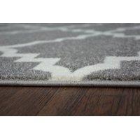 Moderní koberec šedo-bílý F343