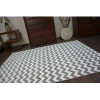 Moderní koberec šedo-bílý F561