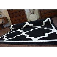 Moderní koberec černo-bílý F730