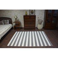 Moderní koberec šedo-bílý F758