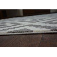 Moderní koberec bílo-šedý F998