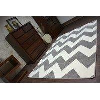 Moderní koberec šedo-bílý FA66