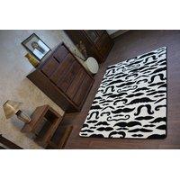 Moderní koberec černo-bílý FA67