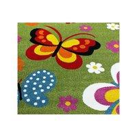 Dětský koberec Barevní motýlci - zelený