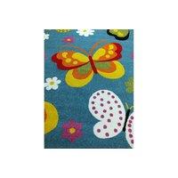 Dětský koberec Barevní motýlci - modrý
